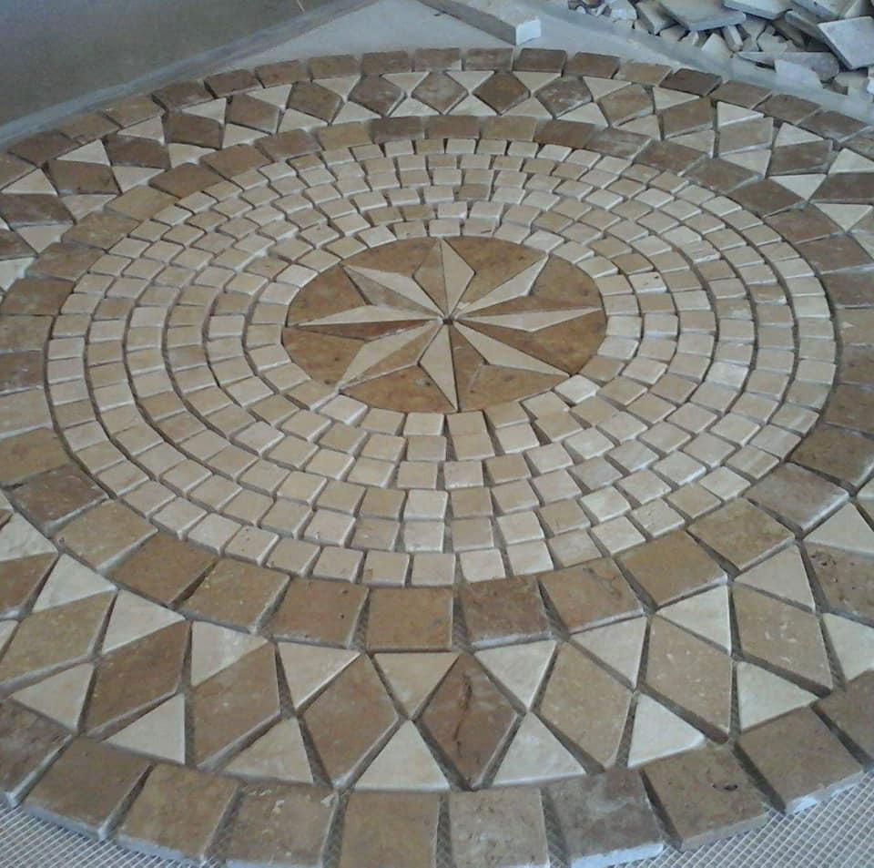 Piso de marmol y medallones 2 650 00 c u 100 marmol for Cuanto cuesta el marmol
