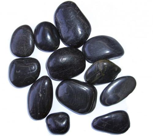 mármol pulido negro decorativo20kg 3 pulgadas
