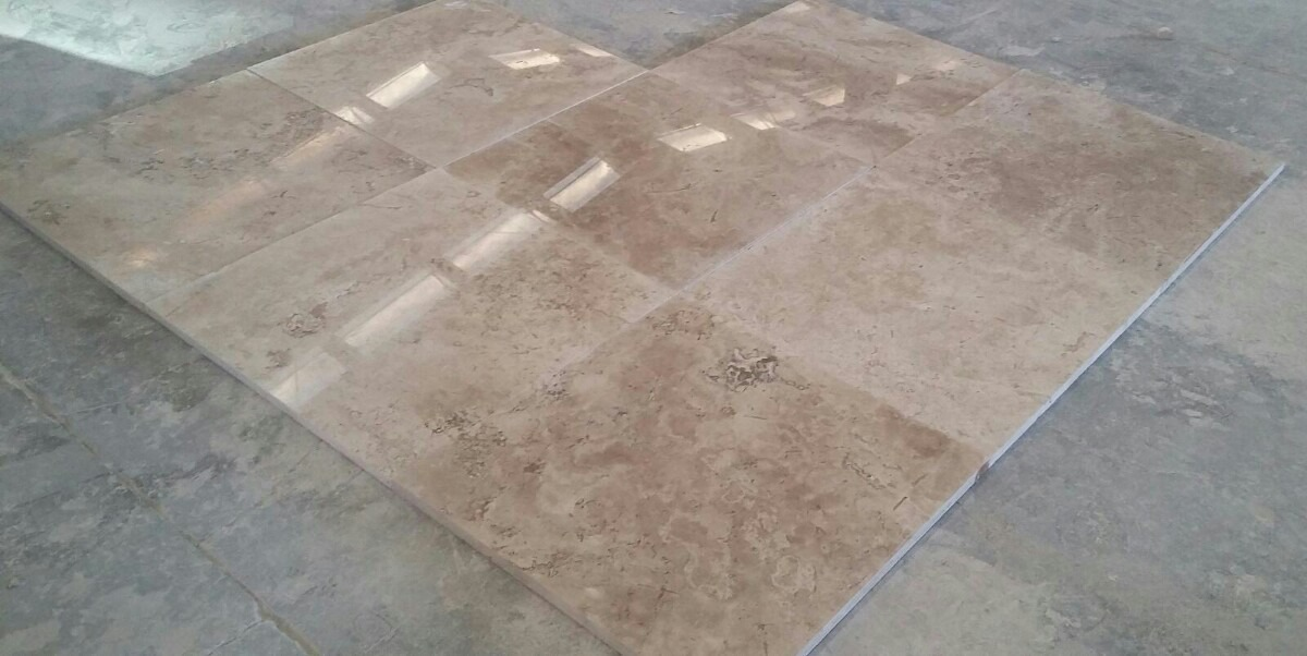 Marmol travertino fioro puebla brillado en for Marmol verde claro