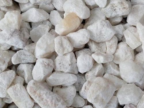 mármol triturado color blanco para jardines25 kg