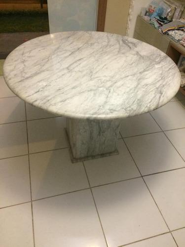 mármore redonda mesa