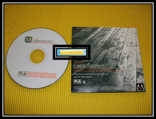 maroon 5 cd promo makes me wonder mexicano