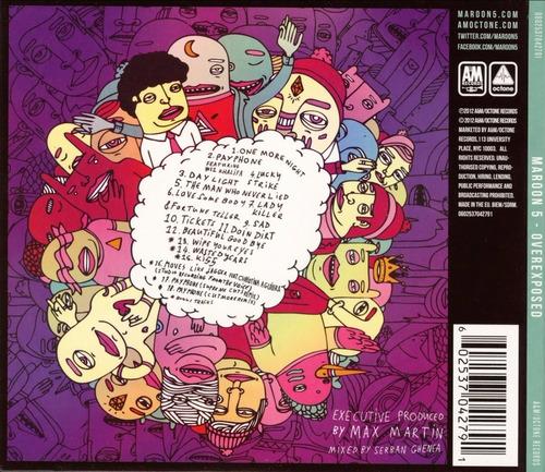 maroon 5 - overexposed - cd nuevo digipack
