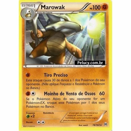 marowak - pokémon físico raro - 78/162 - xy turbo revolução!