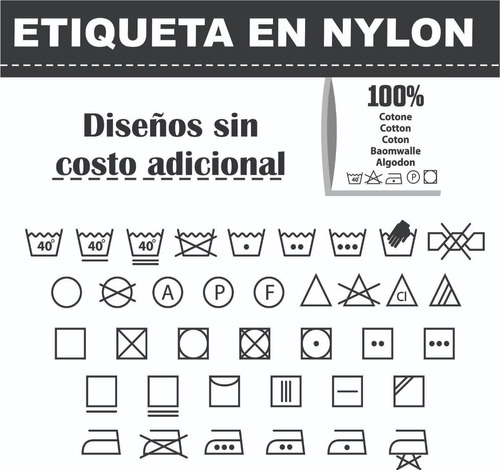 marquillas etiquetas personalizadas nylon negro 500 und
