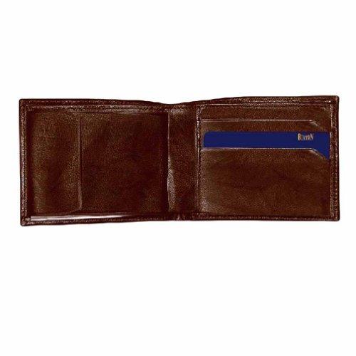 marrón cuero convertible bill fold wallet de buxton hombres
