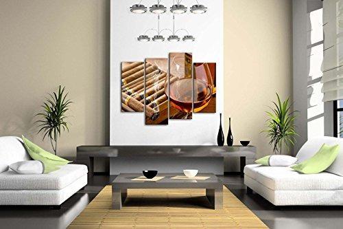 marrón licor en taza con arte de la pared del cigarro pintur