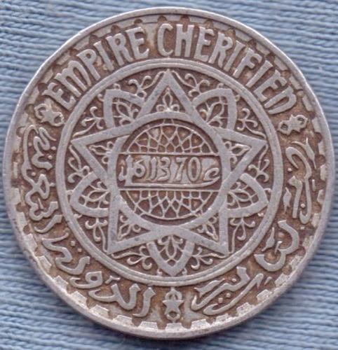 marruecos 5 francs 1951 * protectorado frances * mohammed v