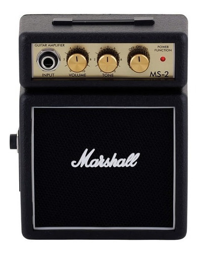 marshall ms 2 mini amplificador ms2 portatil ms-2 negro