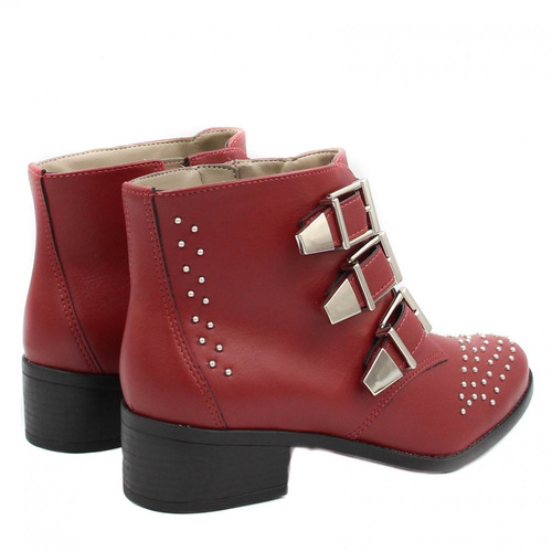 aaa6058087fd2 marte ankle boot bota via. Carregando zoom... bota cano curto via marte  ankle boot vermelha 18-4603