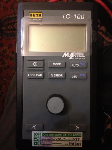 martel lc-100 calibrador de ma lazos hart portátil
