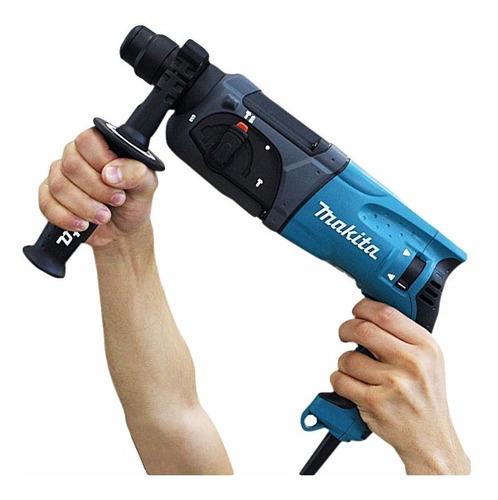 martelete combinado sds hr2470 800w makita + kit ferramentas