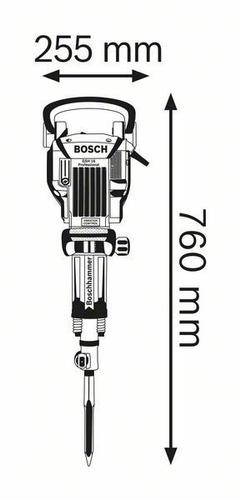 martelo demolidor bosch gsh 16-28 1750w 220v