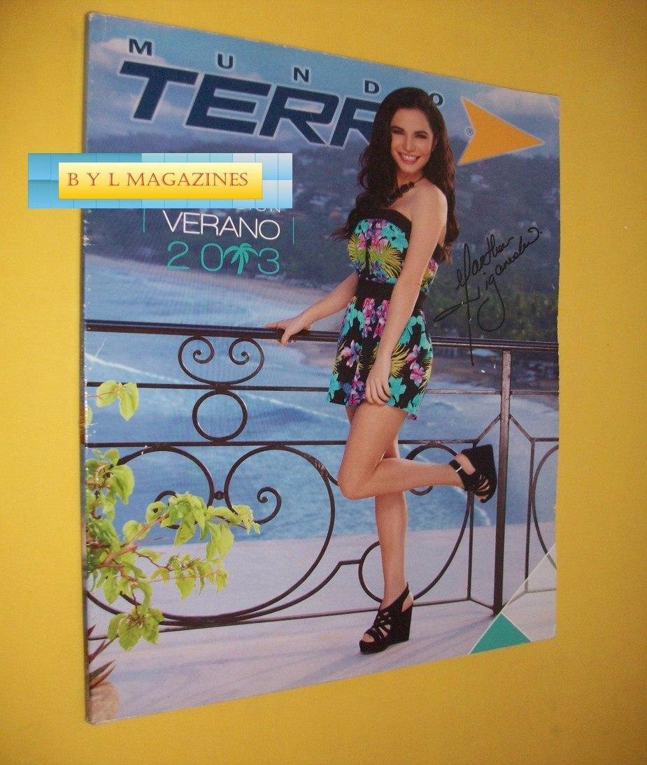 5ea931c3 Martha Higareda Catalogo Revista Mundo Terra 2013 - $ 200.00 en ...