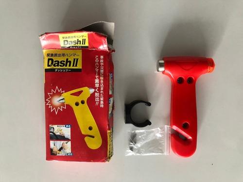 martillo de emergencia rompe vidrios (en color naranja)