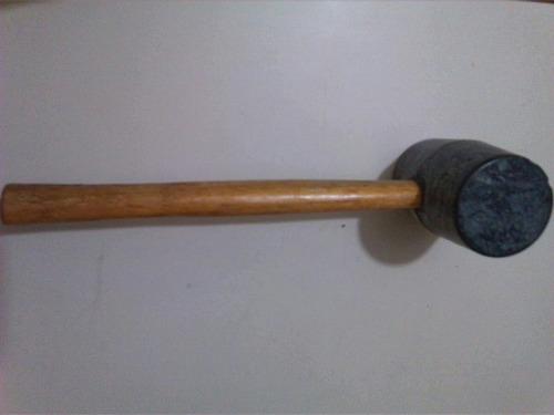 martillo de goma 8 onzas, mango de madera