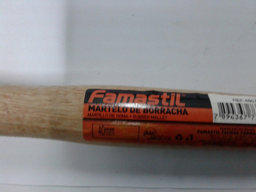 martillo de goma de 40 mm marca famastil