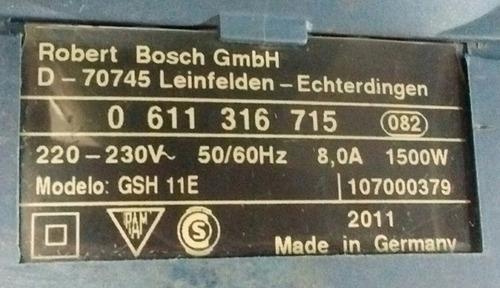 martillo demoledor bosch gsh 11 e (aleman)