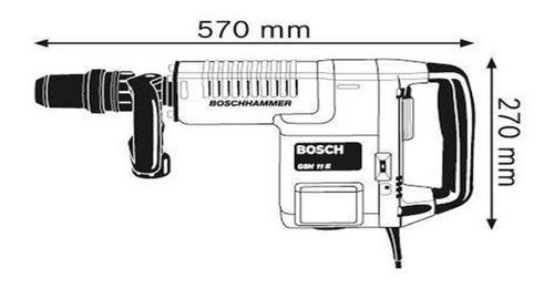 martillo demoledor bosch sds-max gsh 11 e 1500w 16,8j