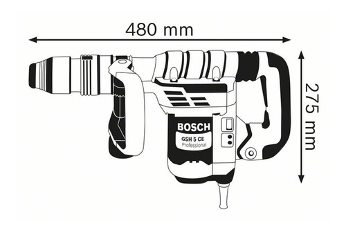 martillo demoledor bosch sds-max gsh 5 ce 1150w - 8,3j