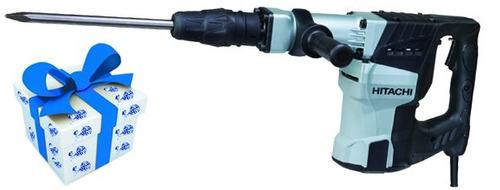 martillo demoledor hitachi h60mced 1250w sds max + regalo!