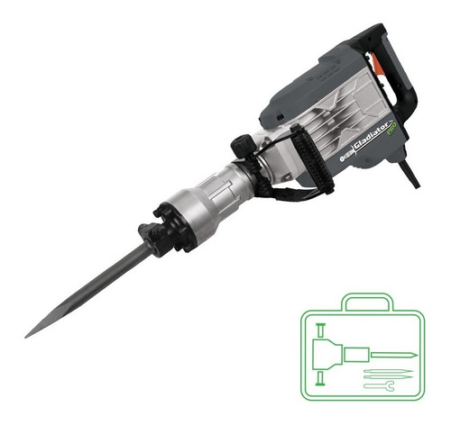 martillo demoledor industrial 1800w / 50j gladiator md750