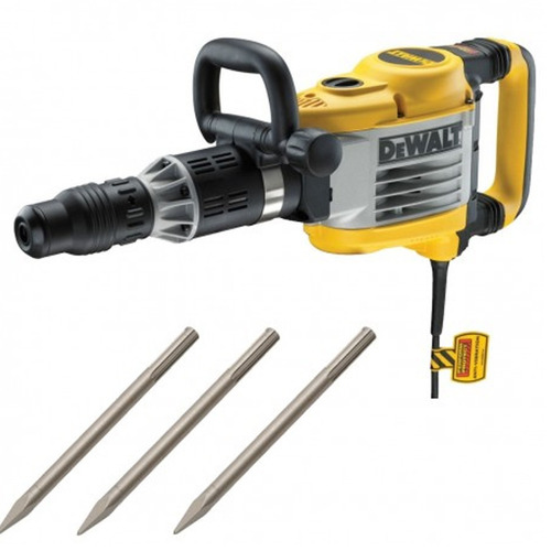martillo demoledor sds max 1600w + 3 cinc. dewalt d25951k-k2