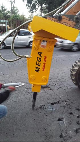 martillo hidraulico mega 306 para minicargador