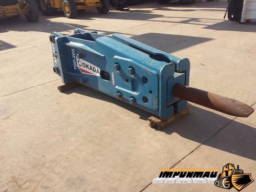 martillo hidraulico para excavadora okada 205 reconstruido