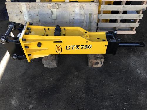 martillo hidraulico para retroexcavadora nuevo gtx 750