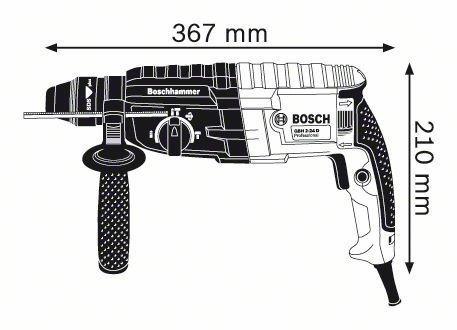 martillo perforador marca bosch modelo gbh 2-24 d