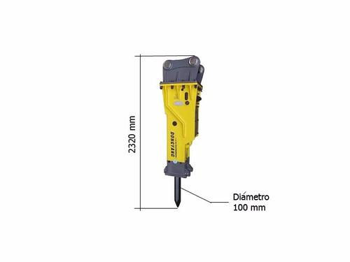 martillo picador hidraulico 800 kg dyb-600 excavadora