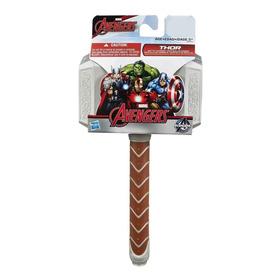 Martillo Thor Mjölnir Luz Y Sonido 30 Cm Avengers Niños1