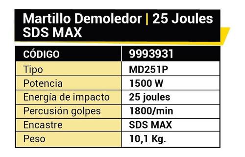 martillos demoledor 25j 500w magnum dowen pagio industrial