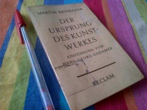 martin heidegger el origen de la obra de arte en aleman
