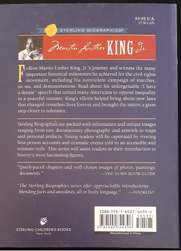 martin luther king jr. a dream of hope (inglés)