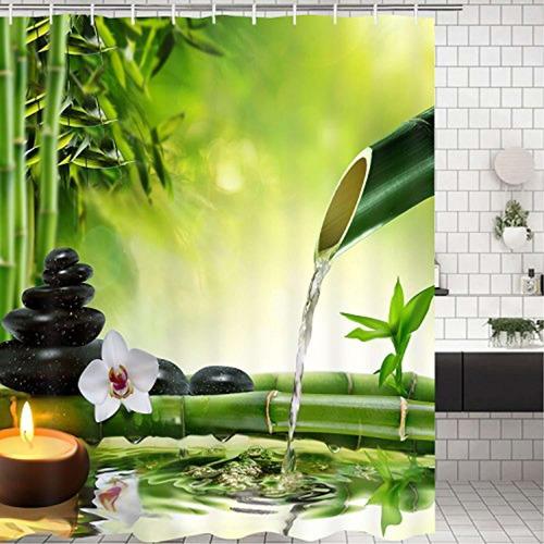 martine mall cortina de baño ducha bambú