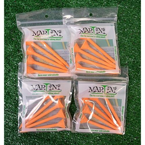 martini 3 1 4    orange color golf tees - 4 paquetes
