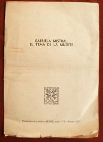 Marval, Carlota: Gabriela Mistral: El Tema De La Muerte
