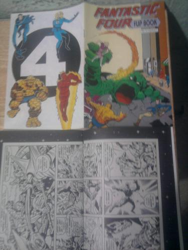 marvel 4 fantasticos flip book mini vid precio por lote de 2