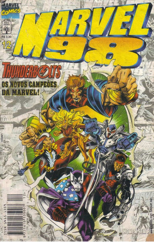 marvel 98 nº 12 - thunderbolts os novos campeões da marvel