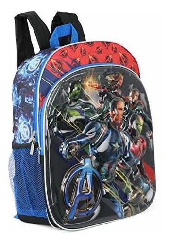 marvel avengers 16 superhero 3d mochila moldeada (3d negro)