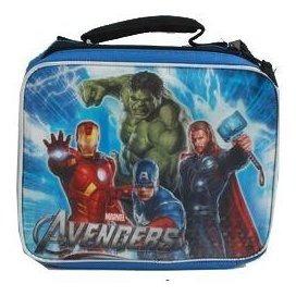 marvel avengers con bolsa aislante hulk, iron man, captain