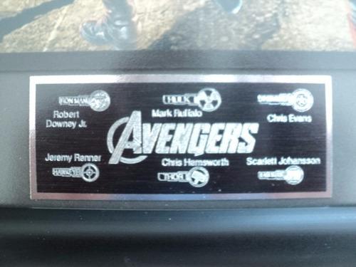 marvel avengers iron man autografiado autientico