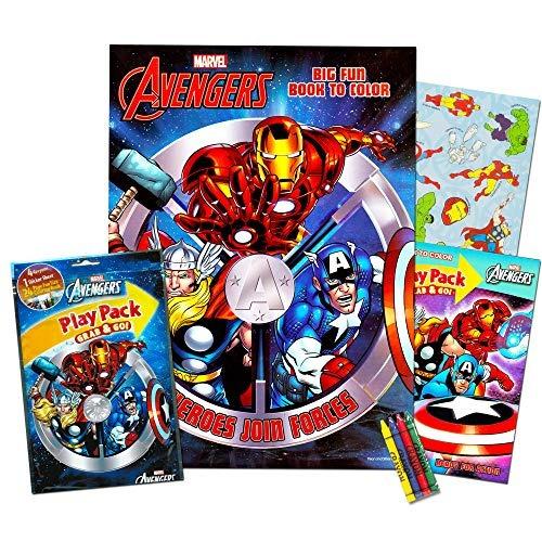 marvel avengers libro para colorear y vengadores play set wi