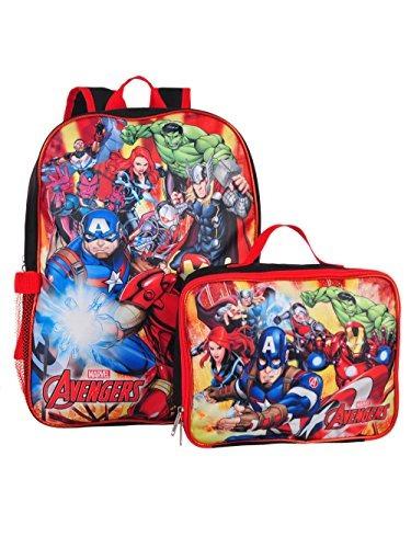 marvel avengers - mochila de 16 con caja de almuerzo a