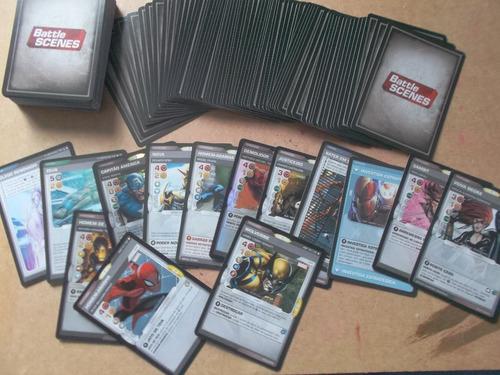 marvel battle scenes lote 100 cartas aleatoria frete r$ 10