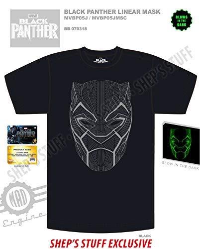 marvel camiseta para hombre con diseno de mascara lineal de