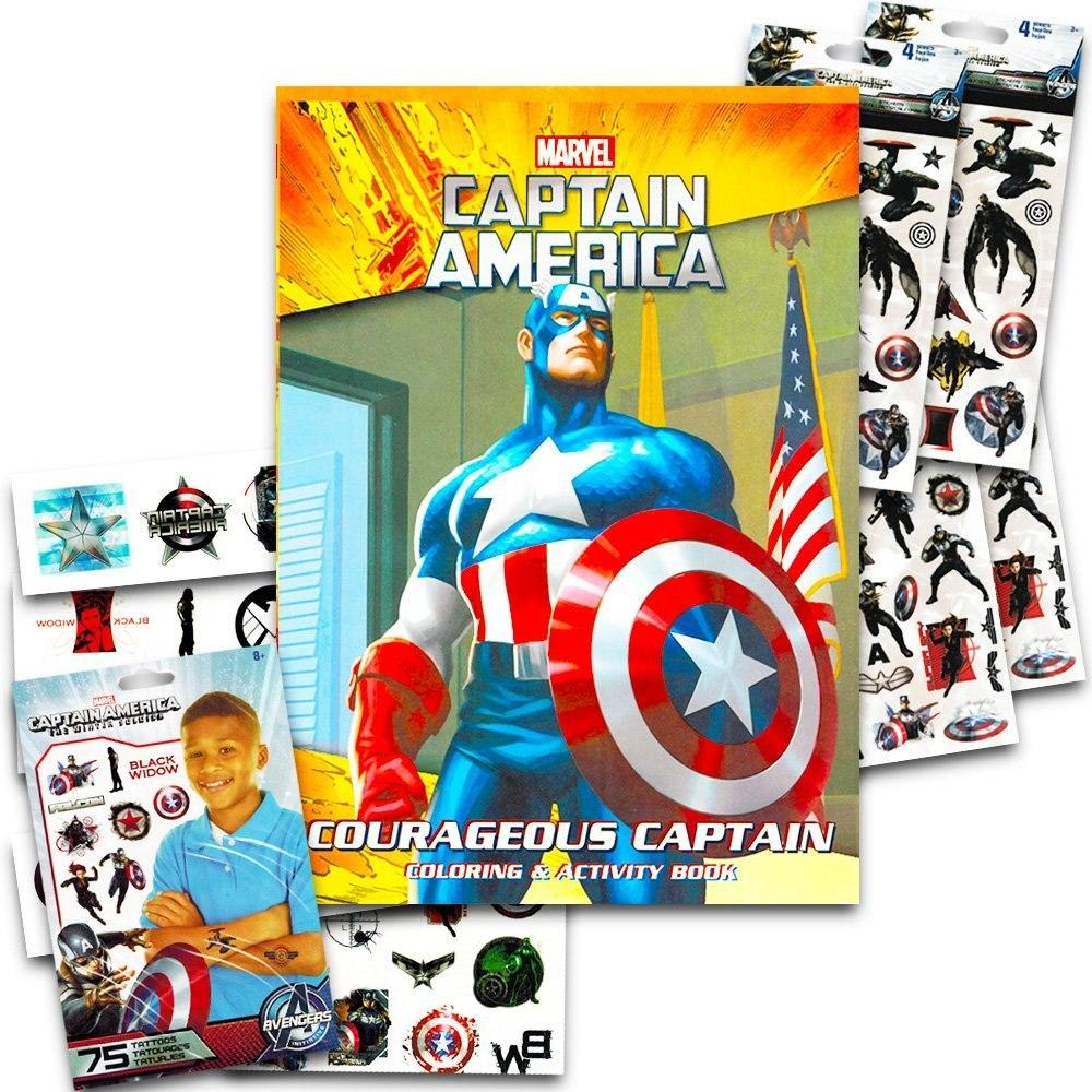 Marvel Capitán América Libro Para Colorear Con El Capitán Am ...