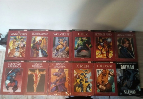 marvel coleção salvat heroes 01 a 11 capa vermelha + brinde